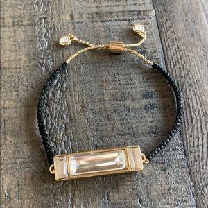 Gold diamond black bracelet 💛